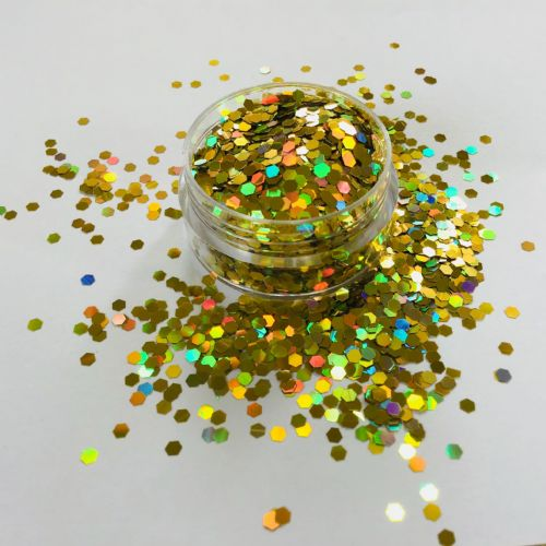 HOLOGRAPHIC GOLD GLITTER  POT - 10g